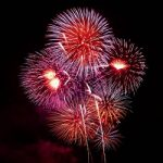 Fireworks Rockets Night Explosion Colors Sparks